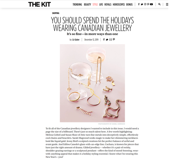 The Kit Online: You Should Spend The Holidays Wearing Canadian Jewelry