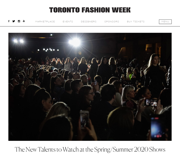 Toronto Fashion Week: The New Talents to Watch at the Spring/Summer 2020 Shows