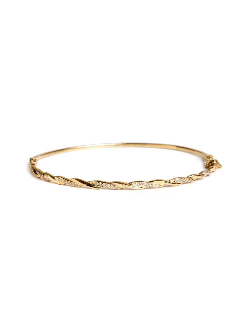 Levant Braided Bracelet with Diamonds