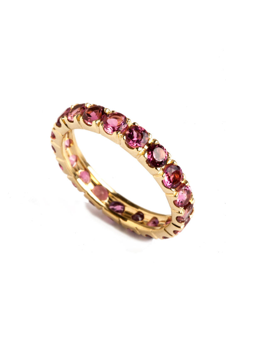 Freestyle Ring with Pink Tourmalines
