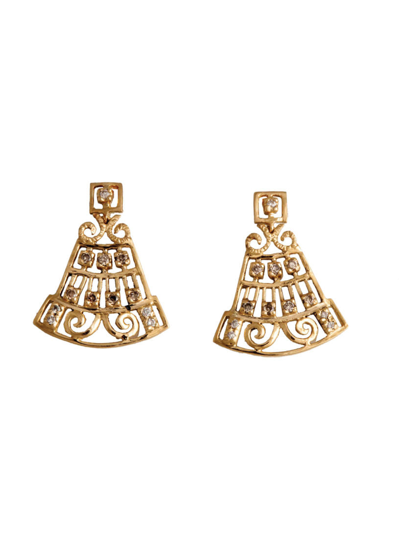 Levant Filigree Earrings with Diamonds