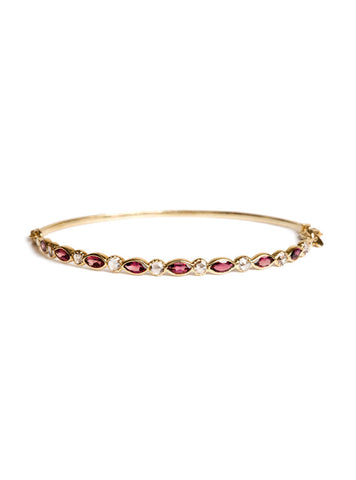 Freestyle Bracelet with Pink Marquise-cut Tourmalines and Diamonds