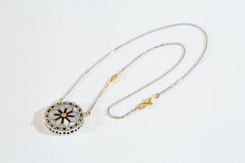 Mother of Pearl Arabesque Mavia Necklace