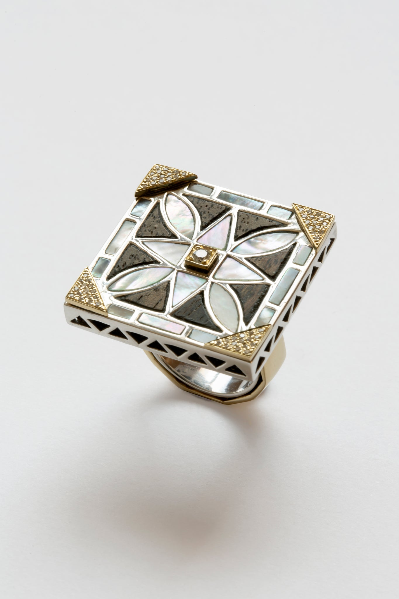 Mother of Pearl Arabesque Malika Ring