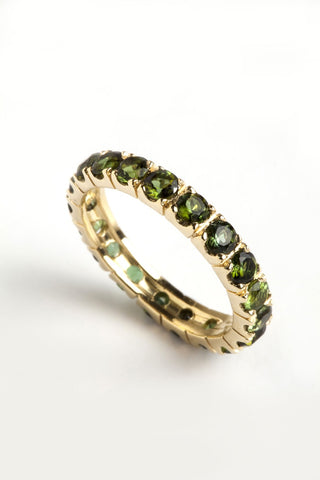 Freestyle Ring with Green Tourmalines