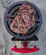 ProQ Afterburner Steak Grill for Chimney Starters with Steak Beach BBQ