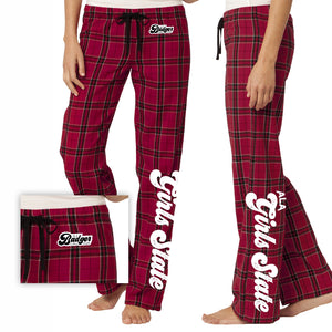 ALA Badger Girls State Flannel Plaid PJ Pant