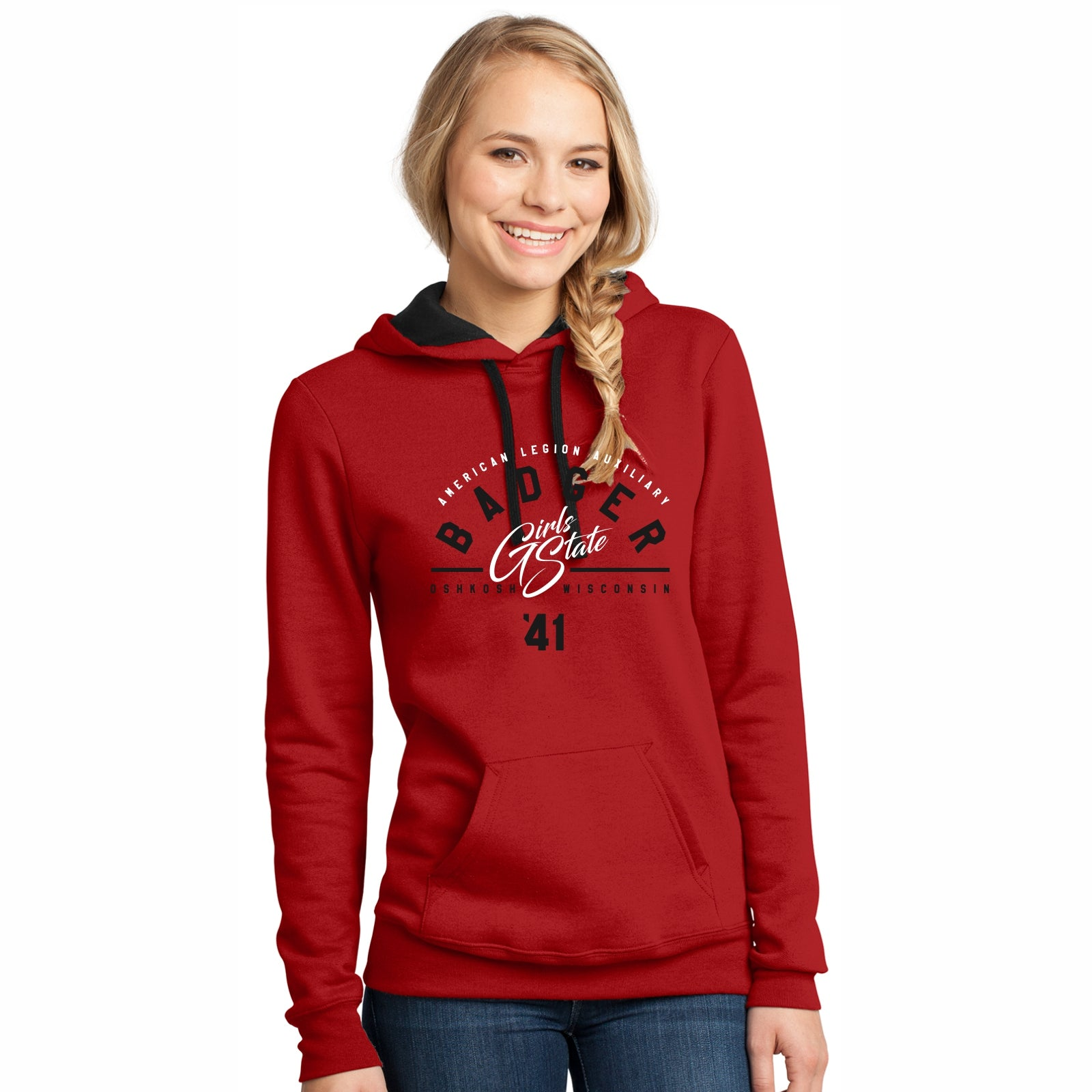 Red Hoodie with Black Details