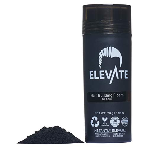ELEVATE Hair Fibers 100% Natural Keratin Hair Fibers Instantly Thickens Thinning or Balding Hair for Men and Women - Natural Hair Loss Concealer 28g 0.98oz