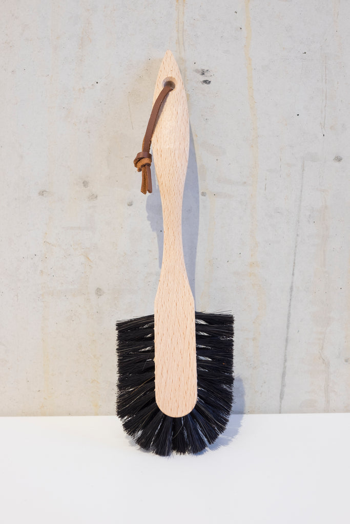 Wooden dish brush with horsehair - 26,5cm