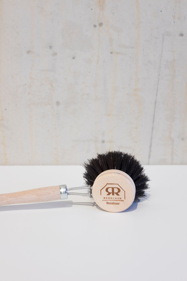 Wooden dish brush with horsehair - 22cm
