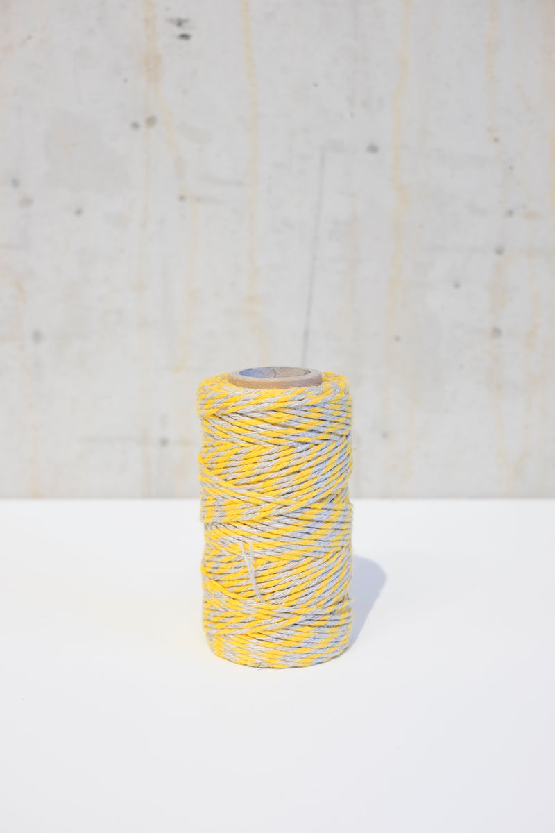 Linen bakers twine - Yellow/Ecru