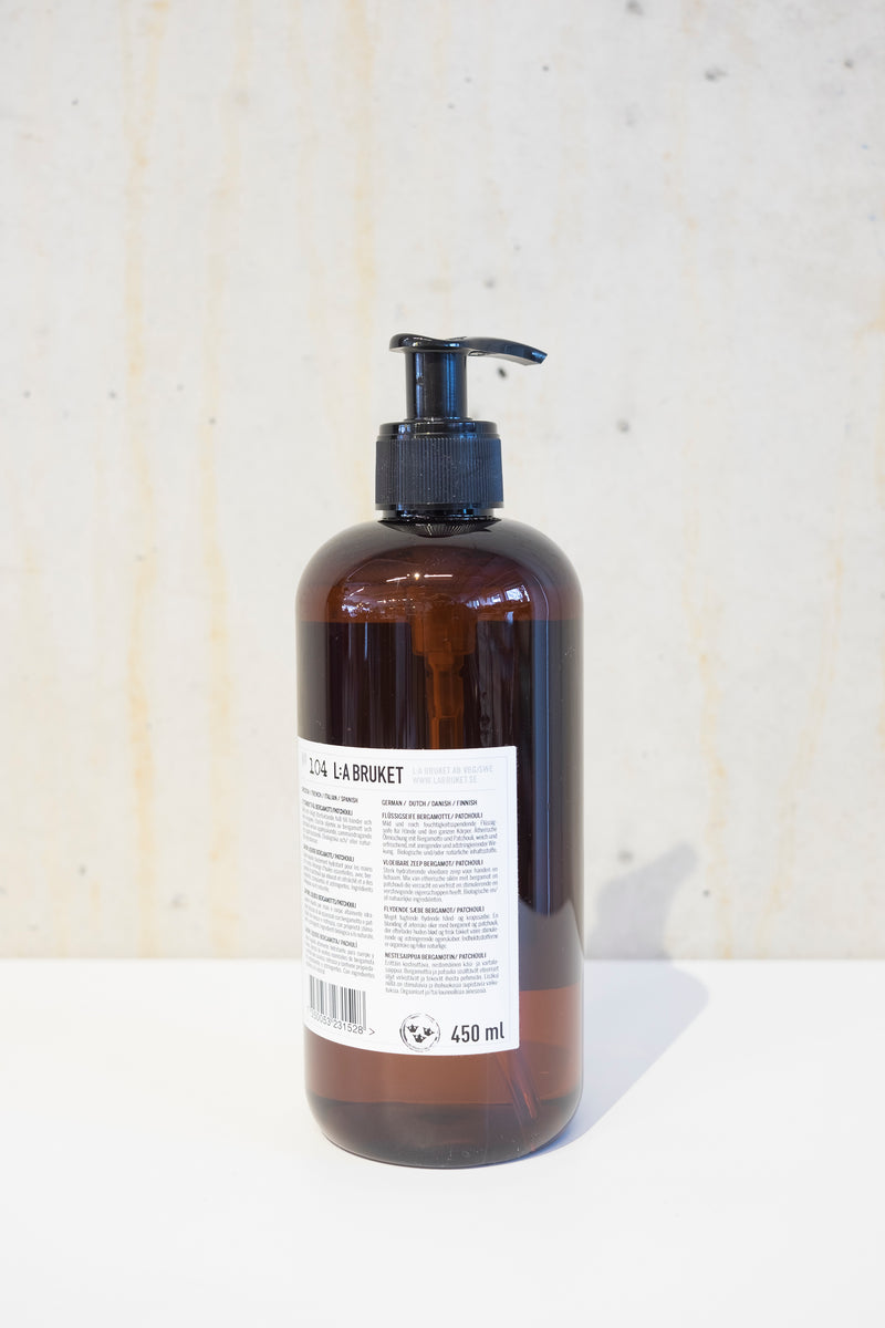 TVAL hand & body wash 450ml - Bergamot & Patchouli
