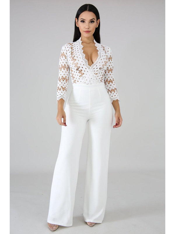 Luisa Jumpsuit-Chic By Night -white jmpsuit-S-Chic By Night