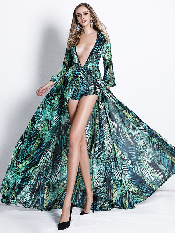 Saba Dress-Chic By Night -Green-L-Chic By Night