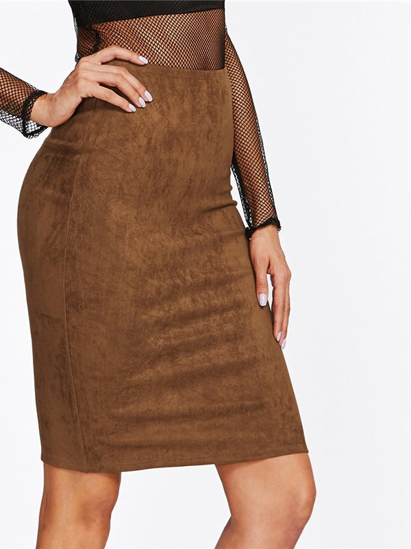 Danna Skirt-Chic By Night -Brown-XS-Chic By Night
