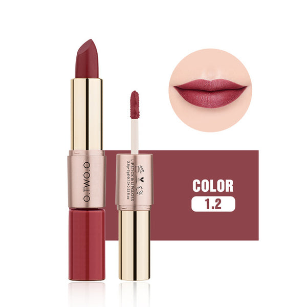 Matte Double Ended Long Lasting Waterproof Moisture Lipstick & Lip Gloss-Chic By Night -Chic By Night