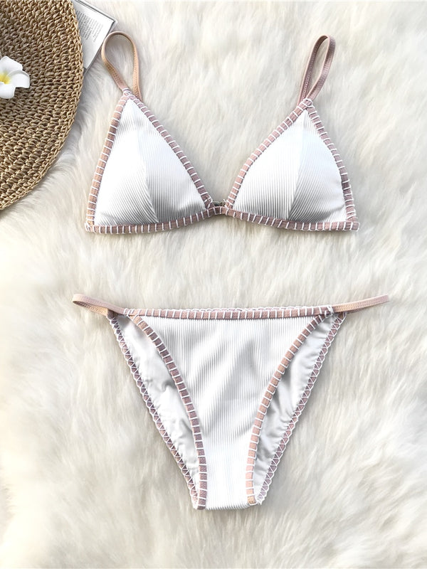 Turan Two Pieces Bikini-Chic By Night -WHITE-L-Chic By Night