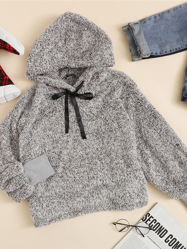 Faux Fur Fluffy Hoodie Autumn Winter Casual Women Sweatshirts-Chic By Night -Gray-XS-Chic By Night