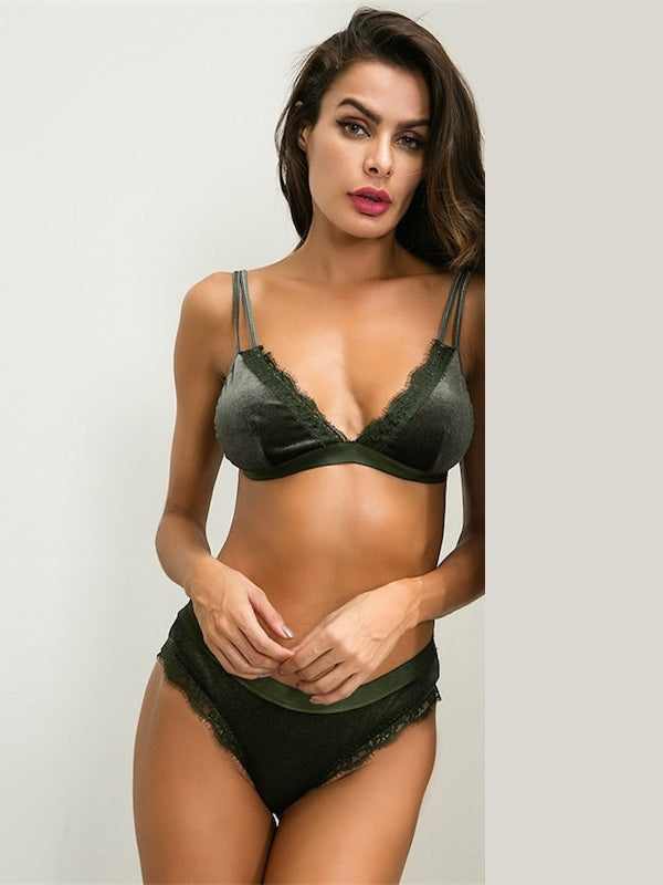 Livier Lingerie Set-Chic By Night -Green-S-Chic By Night