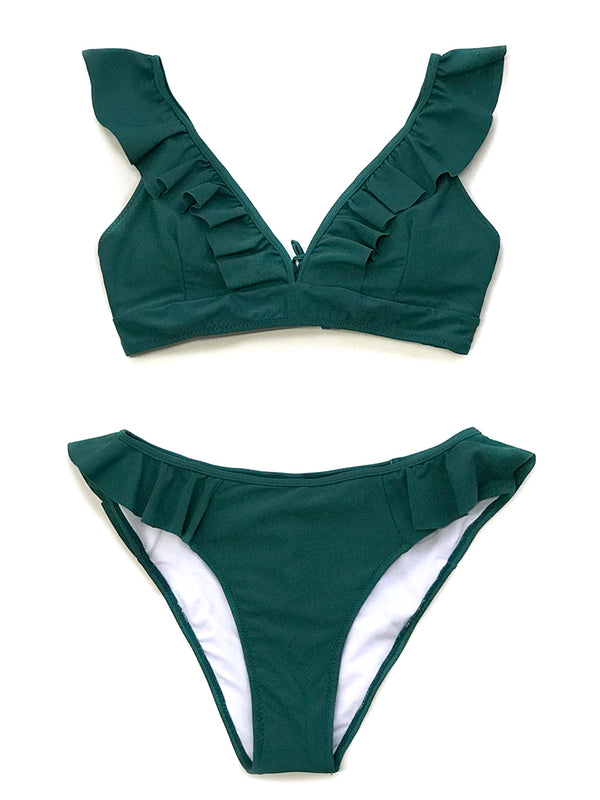 Casimira Two Pieces Bikini-Chic By Night -Green-L-Chic By Night