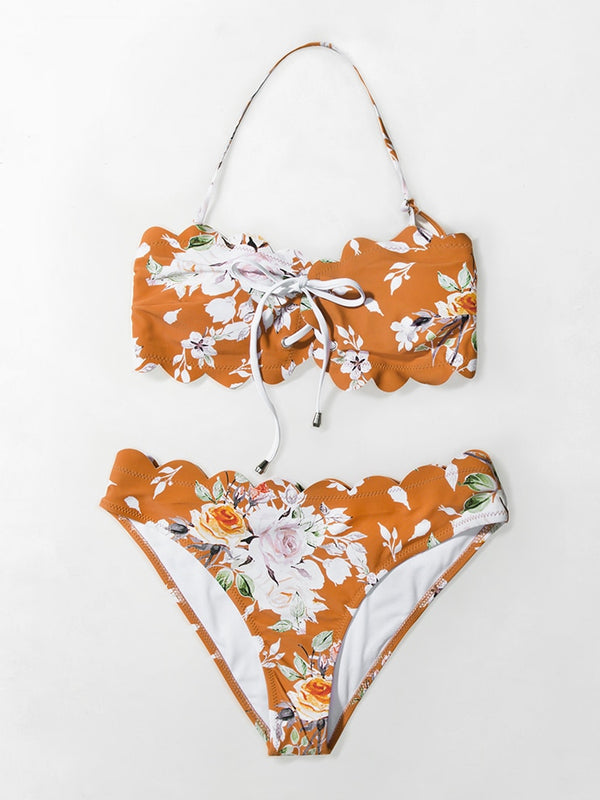 Kalene Two Pieces Bikini-Chic By Night -Orange-L-Chic By Night