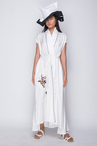 PURANA X AGAN HARAHAP - Wrap Dress White