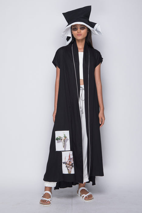 PURANA X AGAN HARAHAP - Wrap Dress Black