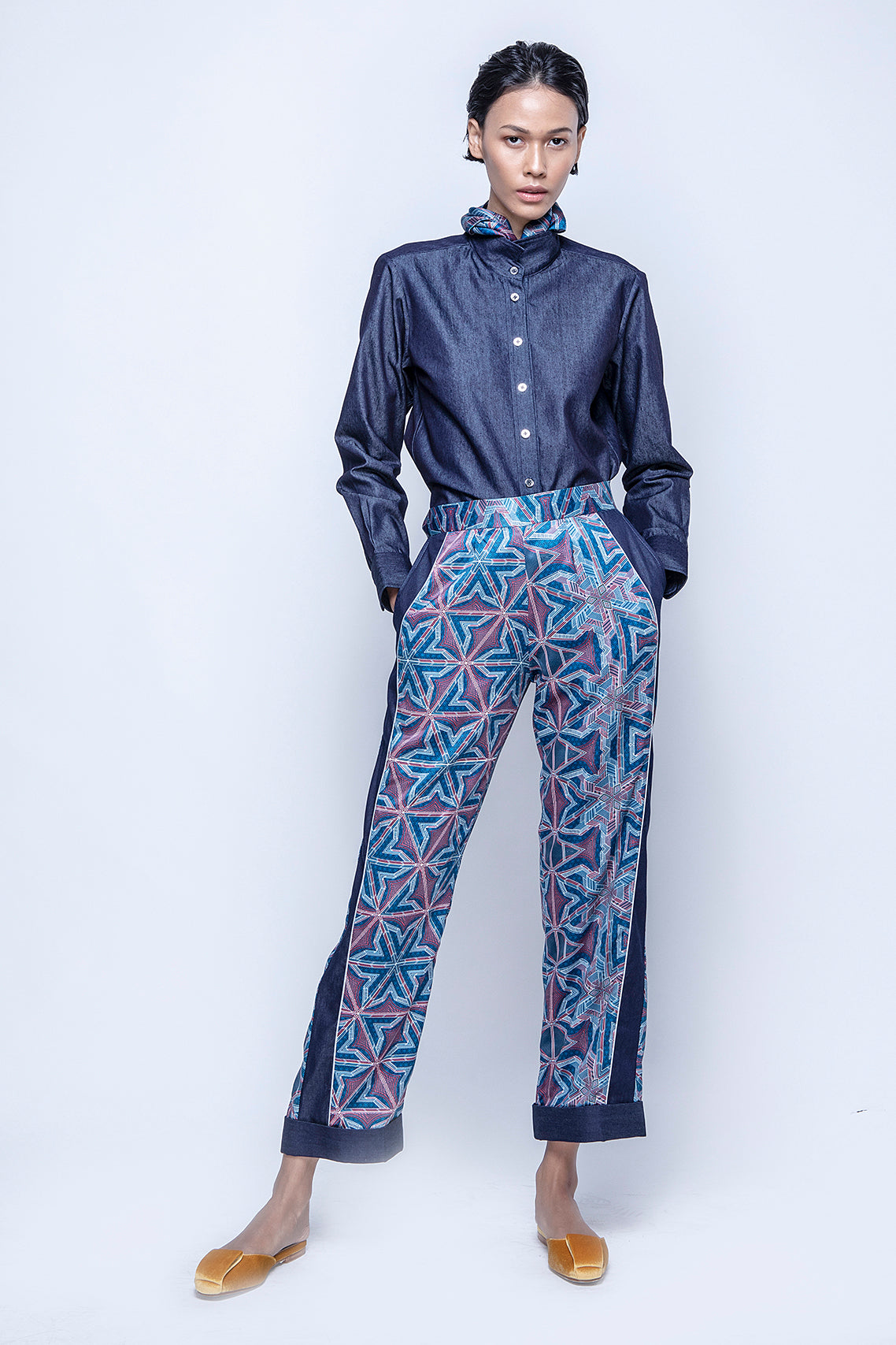 KHINA Pants Blue