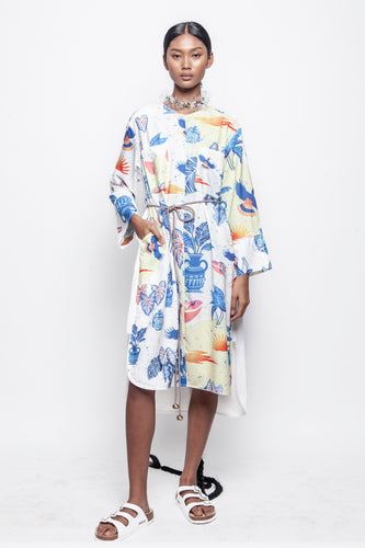 PURANA X TEMPA Shirt Dress White