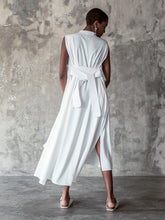 Purana X Geoff Todd Draped Neck Sleeveless Dress