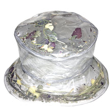 Load image into Gallery viewer, FLOWER POWER CLEAR BUCKET HAT