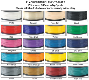 3D Printer Filament - PLA 1kg Spools (1.75mm)