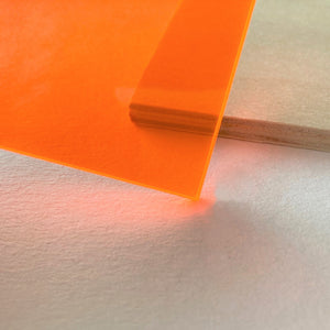 Fluorescent Orange Acrylic