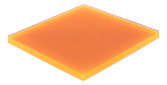 Orange Fluorescent Acrylic