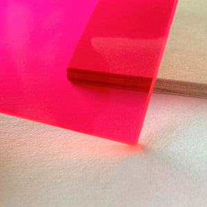 Acrylic (Fluorescent Transparent Pink)