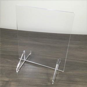 Acrylic (Clear) Sneeze Guard, Protective Barrier with Support Feet