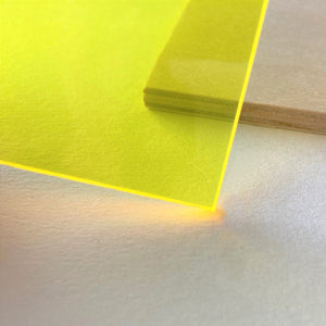 Fluorescent Yellow Acrylic