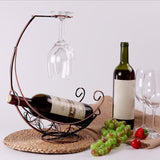 Newly Red Wine Rack Wine Glass Holder Shelf Bottle Rack Pirate Ship Goblet Decoration Racks GHS99 Free Shipping - Wines Club