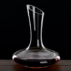 1100ML Superior  Flat Base Red Wine Decanter Handmade Crystal Wine Pourer Premium Water Carafe Thickened Wall - Wines Club