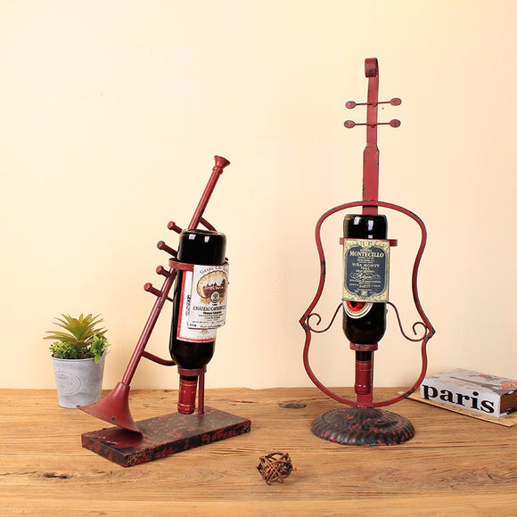 The Instrument Wine Rack Creative Home Furnishing Metal Iron Wine Holder - Wines Club