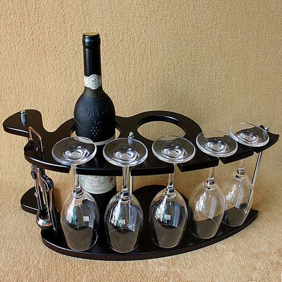Wooden Wine Rack Bar Wine Holder - Wines Club