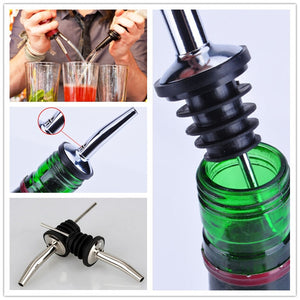 1pcs Stainless Steel Wine Mouth Wine Stoppers Bottle Cork Pourer Wine Mouth Metal Bottle Stopper Flairtending - Wines Club