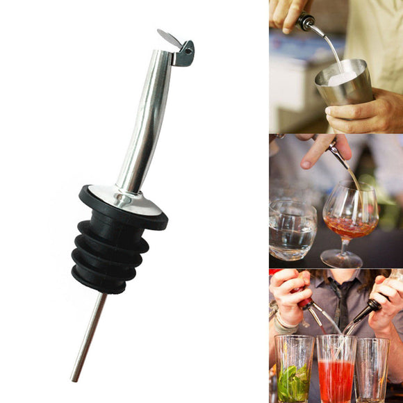 2017 Liquor Spirit Pourer Flow Wine Bottle Pour Spout Stopper Stainless Steel Cap - Wines Club