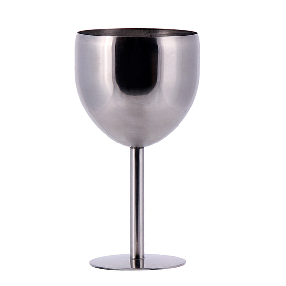 380ML High-end atmosphere Brilliant Stainless Steel Wine Glass Wine Tasting Goblet Home Kitchen Dinner Party Suppliy E5M1 - Wines Club