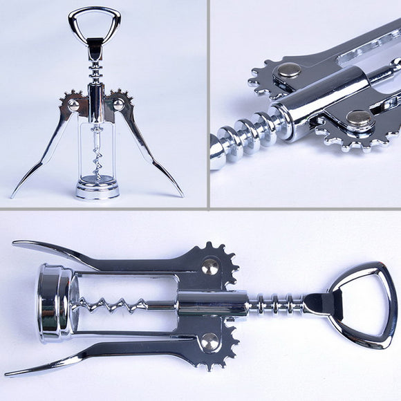 1Pcs Stainless Steel Bottle Opener Waiter Metal Wine Corkscrew Bottle Handle Opener Corkscrews 160 x 55 x 30mm - Wines Club