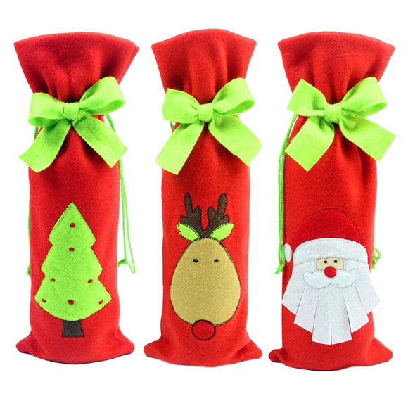 Christmas Wine Bottle Cover Navidad Decoraciones Dinner Table Decor Christmas Decorations for Home New Year Supplies Newest - Wines Club