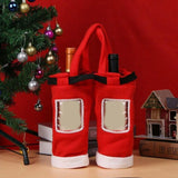 Christmas Gift Treat Candy Wine Bottle Bag Santa Claus Suspender Pants Trousers Decor Christmas Gift Bags - Wines Club