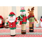 Christmas Decoration Christmas Wine Bottle Cover Cute Snowmen Santa Claus Table Decor Knitting Beer Bottle Cover - Wines Club