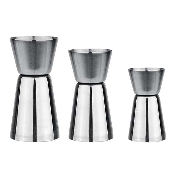 Wine Cocktail Shaker Jigger Single Double Shot Drink Measure Cup Cocktail Strainer Mixer Bartender Kit Bar Sets - Wines Club
